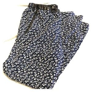 H&M flowy flower print pants
